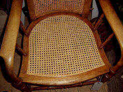 Chair seat caned in standard six-way